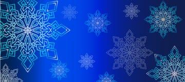 Snowflakes μπλε ουδέτερο υπόβαθρο Στοκ Εικόνες