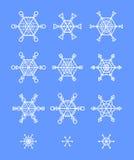 snowflakes ντεκόρ Στοκ εικόνες με δικαίωμα ελεύθερης χρήσης