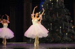 Snowflakes ο κορίτσι-καρυοθραύστης μπαλέτου Στοκ εικόνες με δικαίωμα ελεύθερης χρήσης