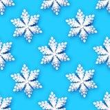 Snowflakes περικοπών της Λευκής Βίβλου άνευ ραφής σχέδιο Υπόβαθρο χειμερινών διακοσμήσεων Origami εποχιακές διακοπές χιονοπτώσεις απεικόνιση αποθεμάτων