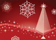 snowflakes πεύκων τυποποιημένο δέν&tau Στοκ φωτογραφία με δικαίωμα ελεύθερης χρήσης