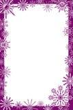 snowflakes πλαισίων διάνυσμα Στοκ Φωτογραφία
