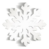 Snowflakes που κόβονται από το έγγραφο Στοκ Εικόνες
