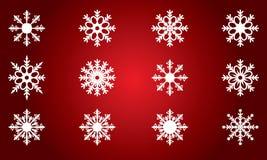 Snowflakes που τίθενται όμορφα για το χειμερινό σχέδιο Χριστουγέννων Στοκ φωτογραφία με δικαίωμα ελεύθερης χρήσης
