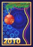snowflakes ρολογιών Χριστουγέννω διανυσματική απεικόνιση