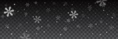 Snowflakes στο διαφορετικό υπόβαθρο μορφών ελεύθερη απεικόνιση δικαιώματος