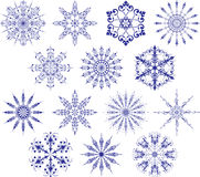 snowflakes συλλογής διάνυσμα Στοκ Φωτογραφίες