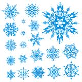 snowflakes συλλογής Χριστουγένν ελεύθερη απεικόνιση δικαιώματος
