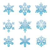 snowflakes συλλογής διανυσματική απεικόνιση