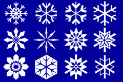 snowflakes συλλογής Στοκ εικόνα με δικαίωμα ελεύθερης χρήσης