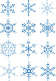 snowflakes συλλογής Στοκ φωτογραφία με δικαίωμα ελεύθερης χρήσης