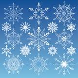 snowflakes συλλογής Στοκ εικόνες με δικαίωμα ελεύθερης χρήσης