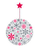 Snowflakes σφαίρα Χριστουγέννων ελεύθερη απεικόνιση δικαιώματος