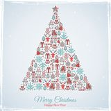snowflakes σχεδίου Χριστουγέννων καρτών teddy παιχνίδι επίσης corel σύρετε το διάνυσμα απεικόνισης Στοκ φωτογραφία με δικαίωμα ελεύθερης χρήσης