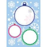 snowflakes σχεδίου Χριστουγέννων καρτών teddy παιχνίδι Στοκ Εικόνες