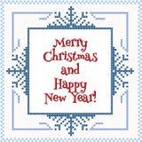 snowflakes σχεδίου Χριστουγέννων καρτών teddy παιχνίδι Στοκ φωτογραφίες με δικαίωμα ελεύθερης χρήσης