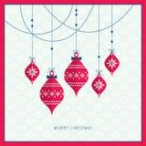 snowflakes σχεδίου Χριστουγέννων καρτών teddy παιχνίδι ελεύθερη απεικόνιση δικαιώματος