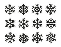 Snowflakes σύνολο εικονιδίων, γραμμικό μαύρο σχέδιο, συλλογή συμβόλων παγώματος, διανυσματικό λογότυπο Στοιχεία της διακόσμησης τ στοκ φωτογραφία με δικαίωμα ελεύθερης χρήσης