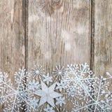 Snowflakes σύνορα Στοκ Εικόνες