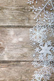 Snowflakes σύνορα Στοκ Φωτογραφία