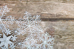 Snowflakes σύνορα Στοκ φωτογραφία με δικαίωμα ελεύθερης χρήσης