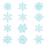 Snowflakes τα εύκολα εικονίδια ανασκόπησης αντικαθιστούν το διαφανές διάνυσμα σκιών Στοκ εικόνες με δικαίωμα ελεύθερης χρήσης
