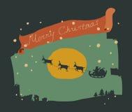 snowflakes τοπίων Χριστουγέννων καρτών καθορισμένο αστικό διάνυσμα Στοκ φωτογραφίες με δικαίωμα ελεύθερης χρήσης