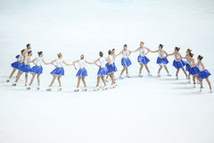 Snowflakes του Ζάγκρεμπ ομάδας πρεσβύτερος σε μια γραμμή Στοκ εικόνα με δικαίωμα ελεύθερης χρήσης