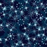 Snowflakes των αστεριών, των χριστουγεννιάτικων δέντρων και των πετάλων Στοκ εικόνες με δικαίωμα ελεύθερης χρήσης