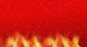 Snowflakes φλογών πυρκαγιάς καυτό κόκκινο υπόβαθρο Στοκ φωτογραφίες με δικαίωμα ελεύθερης χρήσης