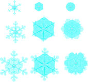 Snowflakes χαμόγελου εξέλιξη Στοκ Φωτογραφίες