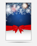 Snowflakes Χριστουγέννων έμβλημα και κάρτα ιστοχώρου απεικόνιση αποθεμάτων