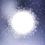 Snowflakes Χριστουγέννων γύρω από το πλαίσιο επίσης corel σύρετε το διάνυσμα απεικόνισης Στοκ Φωτογραφία