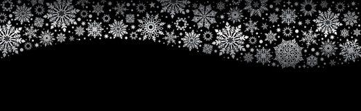 Snowflakes Χριστουγέννων διανυσματικό μαύρο έμβλημα Ιστού ελεύθερη απεικόνιση δικαιώματος
