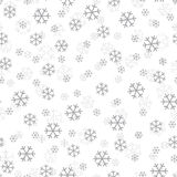 Snowflakes Χριστουγέννων διάνυσμα σχεδίου άνευ ραφής Στοκ φωτογραφία με δικαίωμα ελεύθερης χρήσης