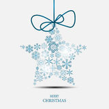 Snowflakes Χριστουγέννων διάνυσμα υποβάθρου Στοκ εικόνα με δικαίωμα ελεύθερης χρήσης