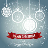 Snowflakes Χριστουγέννων διάνυσμα υποβάθρου απεικόνιση αποθεμάτων