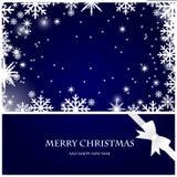 snowflakes Χριστουγέννων καρτών τόξων απεικόνιση αποθεμάτων