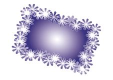 snowflakes Χριστουγέννων καρτών Στοκ φωτογραφία με δικαίωμα ελεύθερης χρήσης
