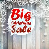 Snowflakes Χριστουγέννων με τη μεγάλη πώληση. Στοκ εικόνες με δικαίωμα ελεύθερης χρήσης