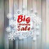 Snowflakes Χριστουγέννων με τη μεγάλη πώληση. Στοκ Εικόνα