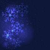 Snowflakes Χριστουγέννων που χαιρετούν το υπόβαθρο Στοκ φωτογραφίες με δικαίωμα ελεύθερης χρήσης