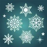 Snowflakes Χριστουγέννων συλλογή Στοκ φωτογραφία με δικαίωμα ελεύθερης χρήσης