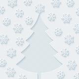 snowflakes Χριστουγέννων συνόρων δ Στοκ εικόνες με δικαίωμα ελεύθερης χρήσης