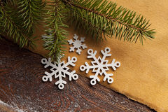snowflakes Χριστουγέννων συνόρων δ Στοκ φωτογραφία με δικαίωμα ελεύθερης χρήσης