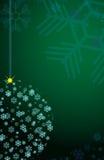 snowflakes Χριστουγέννων σφαιρών Στοκ φωτογραφίες με δικαίωμα ελεύθερης χρήσης
