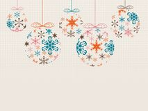 Snowflakes Χριστουγέννων Στοκ εικόνες με δικαίωμα ελεύθερης χρήσης
