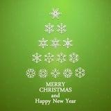 Snowflakes χριστουγεννιάτικο δέντρο Στοκ Εικόνα