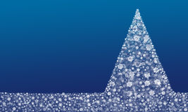 Snowflakes χριστουγεννιάτικων δέντρων υπόβαθρο Στοκ φωτογραφίες με δικαίωμα ελεύθερης χρήσης