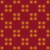 Snowflakes χρυσό τύλιγμα Χριστουγέννων Στοκ Εικόνες